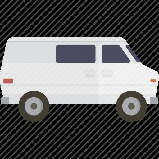 cargo, cargo van, delivery, shipping, van, white van icon