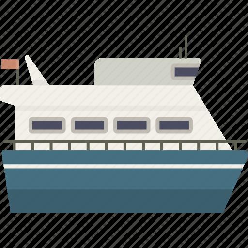 boat, ferry, ship, travel, vessel icon