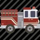 fire, firetruck, truck, emergency
