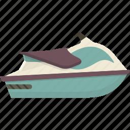 jet, jet ski, jetski, ski, water icon