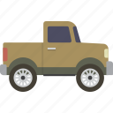 pickup, pickup truck, truck icon