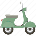 motorbike, scooter, vehicle, vespa