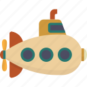 nautical, submarine, underwater icon