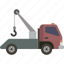 roadside, tow, tow truck, truck icon