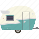 caravan, camper, camping, trailer