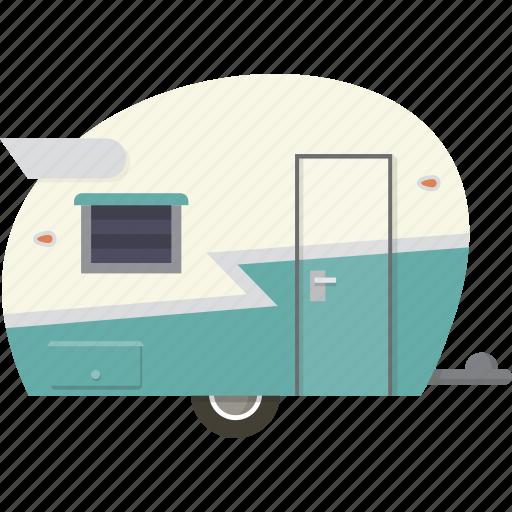 camper, camping, caravan, trailer icon