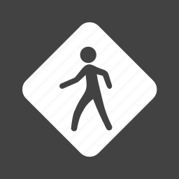 pedestrian, person, road, sign, street, traffic, transportation icon
