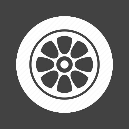 car, circle, rim, rubber tire, tire, transport, wheel icon
