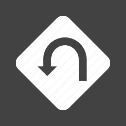 arrow, direction, diversion, navigation, traffic, u-turn icon