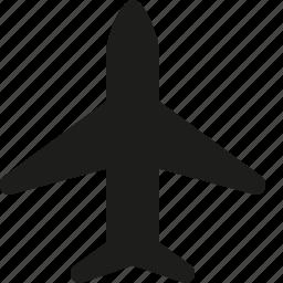 airplane, transportation icon