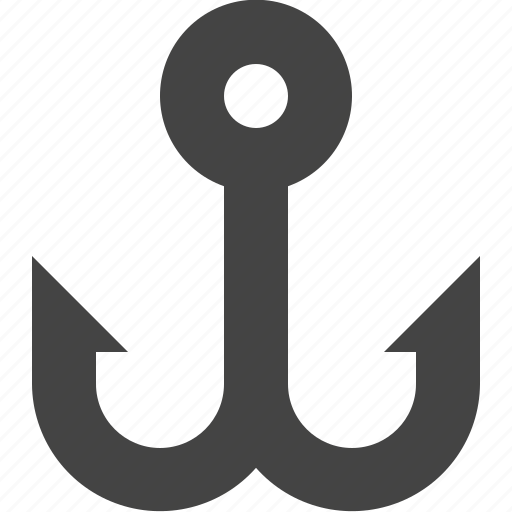 anchor, fish, fishing, hook, link icon