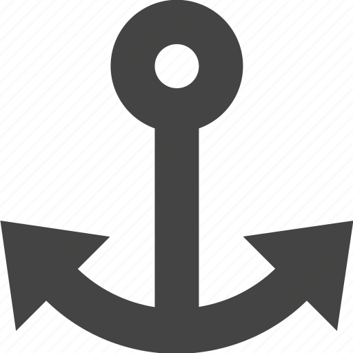 anchor, link, ship, transportation icon