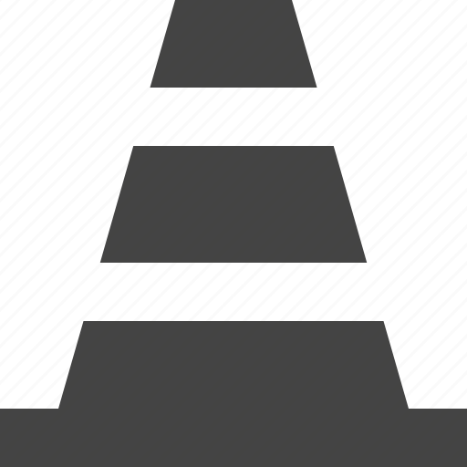 cone, construction, transportation icon