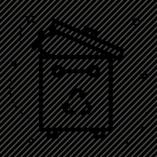 bin, clean, delete, garbage, recycle, remove, trash icon