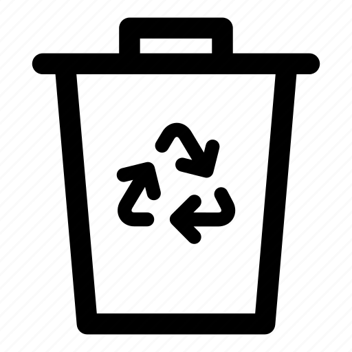 bin, clear, delete, litter, recyclables, recycle, recycle bin, recycling, trash can, trash receptacle, waste basket icon