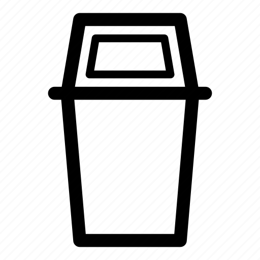 bin, clear, delete, garbage, litter, trash, trash can, trash receptacle, waste basket icon