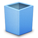 blue, empty, trash icon