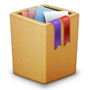 cardbox, full, garbage, recycle bin, trash icon