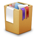 cardbox, full, trash icon