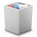 full, grey, trash icon