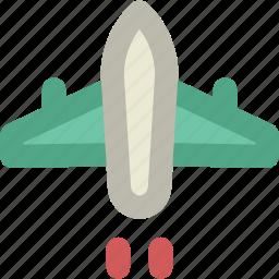 aeroplane, aircraft, airplane, fly, jet, plane icon