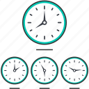 hotel, business, clock icon