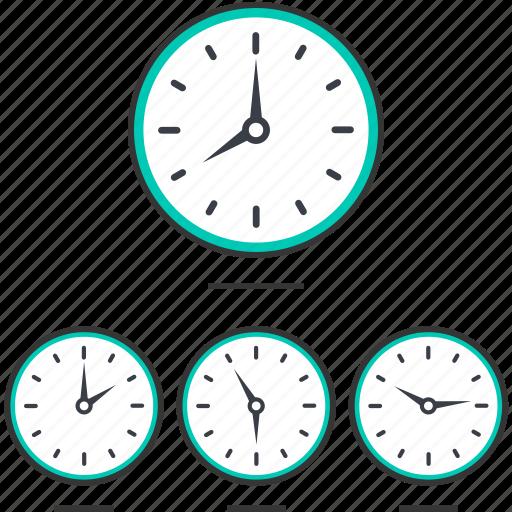 business, clock, hotel icon