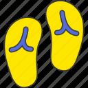 summer, flip flop, sea icon