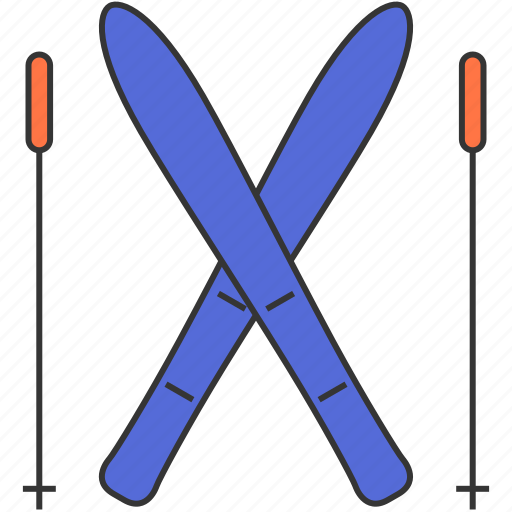 leisure, ski, winter icon