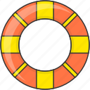 leisure, sea, summer, vacation, water tube icon