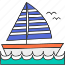 boat, leisure, sea, summer, yacht icon