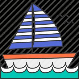 boat, leisure, sea, summer, yacht icon