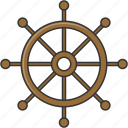 boat, ship, summer, wheel icon