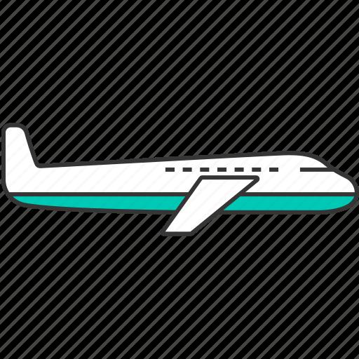 airplane, plane, transportation icon