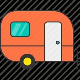 camping, carava, nature, outdoor, trailer icon