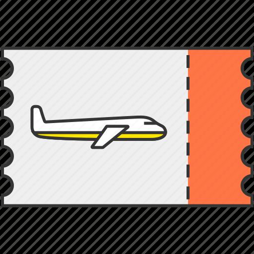 airplane, plane, ticket icon