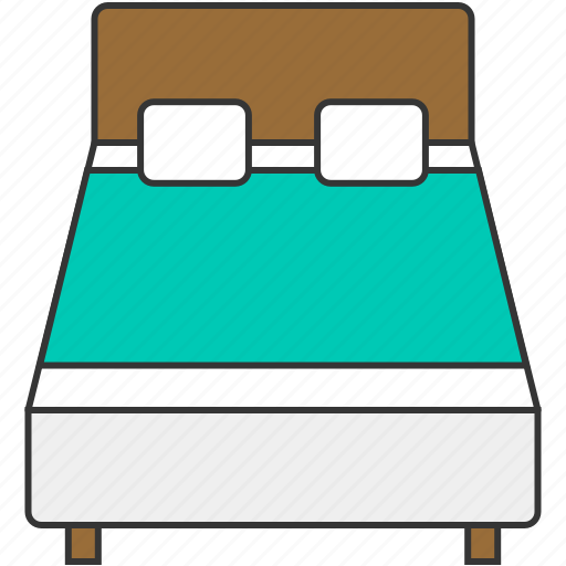 bed, bedroom, furniture, home, hotel icon
