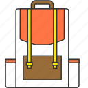 backpack, campling, education, outdoor, school bag icon