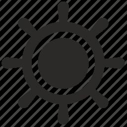 boat, ship, travel, wheel icon