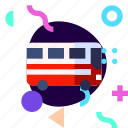 adaptive, bus, ios, isolated, material design, transport, travel icon