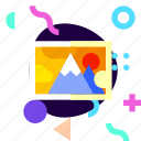 adaptive, ios, isolated, material design, photograph, scenery, travel icon