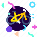 adaptive, bicycle, ios, isolated, material design, mountain bike, travel