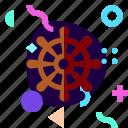 adaptive, ios, isolated, material design, sailor, ship wheel, travel icon