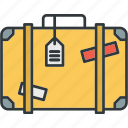holiday, luggage, suitcase, travel icon