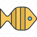 fish, food, meal, sea, tropical icon