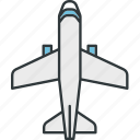 airplane, gps, navigation, plane, route icon