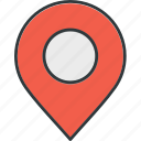 coordinate, map, pin, pointer, position icon