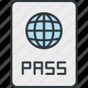 nationality, passport, transport, travel icon