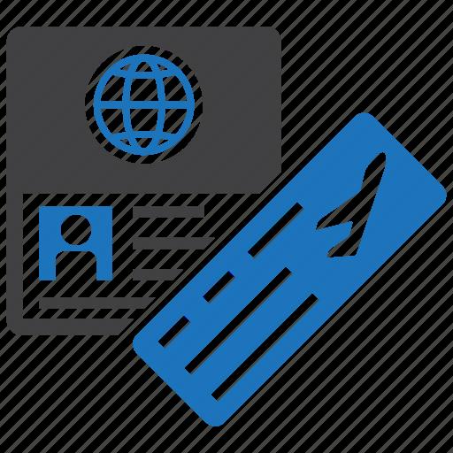 Passport, flight, ticket, plane icon - Download on Iconfinder