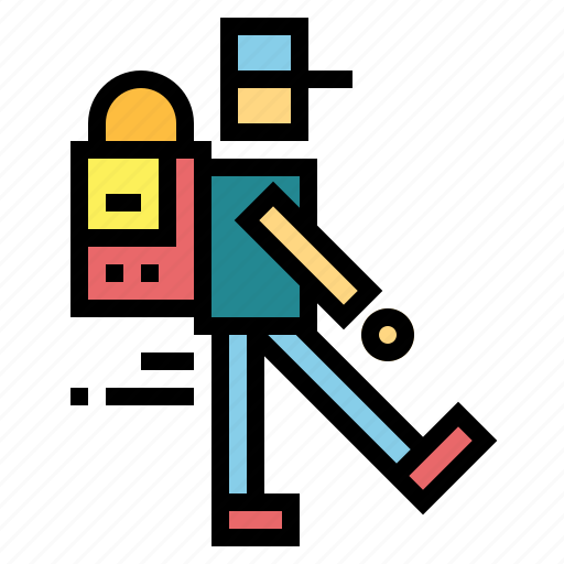 backpacker, hiking, journey, travel, trip icon